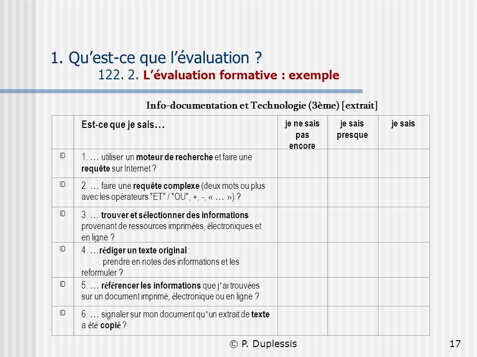 Info-documentation et Technologie (3ème) [extrait]